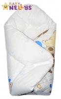 Novorozenecká zavinovačka Baby Nellys ®- Mazlíčci - modrá