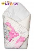 Novorozenecká zavinovačka Baby Nellys ®- Mazlíčci - růžová
