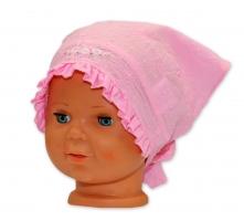 Bavlněný šátek YO! - Kytičky - růžový