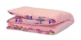 MINKY Baby Luxusní dečka - Sovičky růžové/růžová