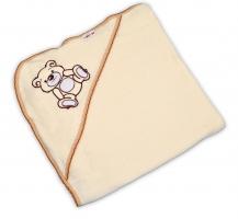 Dětská osuška TEDDY BEAR Baby Nellys s kapucí - smetanová
