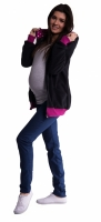 Mikina s kapucí nejen pro těhotné - černá