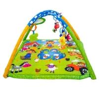 Hrací deka, podložka s melodií  Domácí zvířátka -  zelená