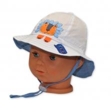 Bavlněný klobouček YO! - LEV - bílý