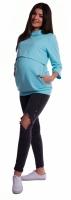 Těhotenské a kojící teplákové triko - mátové