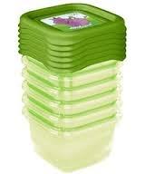 Sada plastových krabiček Hippo 0,25l - 6 ks