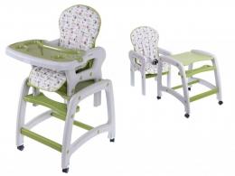 Jídelní stoleček ECO TOYS 2v1 - zelený