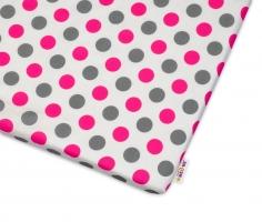 Bavlněné prostěradlo  Baby Nellys ® Puntíky Baby - růžové