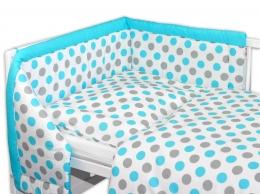 Mantinel s povlečením Baby Nellys ® Puntíky Baby - modrý