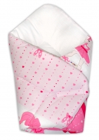 Novorozenecká zavinovačka Baby Nellys ®- Baletka - růžová