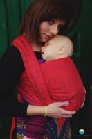 Little FROG Žakárový tkaný šátek na nošení dětí - LOVELY HEARTBEAT
