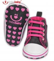 Capačky/botičky BOBO BABY - Tenisky jeans - Květinka