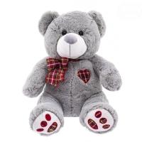 Plyšový medvídek 34cm - šedý