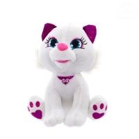 Plyšová kočička  30cm - bílá