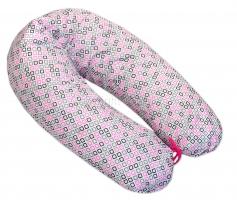 Kojící polštář - relaxační poduška Medvídek kostička - růžový