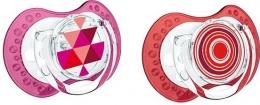 Dudlík LOVI ETNO 6-18m - červená/růžová
