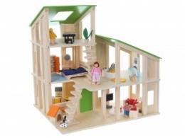 Dřevěný domek pro panenky ECO TOYS - MODERN