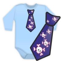 Body dlouhý rukáv kravata COOL - sv. modré