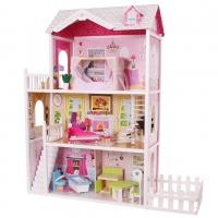 Dřevěný domek pro panenky se zahrádkou ECO TOYS - Rezidence California