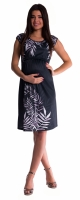 Těhotenské  a kojící šaty palma - černé