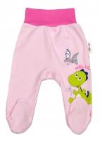 Bavlněné polodupačky DINO Baby Nellys ®- Hello - růžové