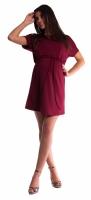 Těhotenské šaty s vázáním - bordó