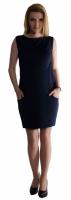 Těhotenské letní šaty s kapsami - granát