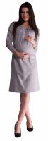 Těhotenské šaty - šedé