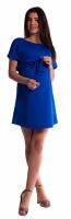 Těhotenské šaty s vázáním - tm. modré