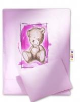 Sada do kočárku komplet Sweet Dreams by TEDDY - růžový