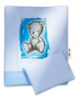 Sada do kočárku komplet Sweet Dreams by TEDDY - modrý