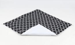 Hrací, přebalovací podložka 120x120cm -černá/ornamenty-bílá
