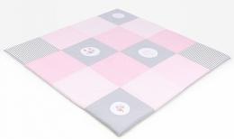 Hrací, přebalovací podložka 160x160cm - růžová s výšivkami