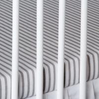 Bavlněné prostěradlo - proužky šedé