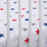 Bavlněné prostěradlo - Hvězdičky barevné