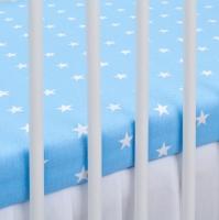 Bavlněné prostěradlo - modré/bílé hvězdičky