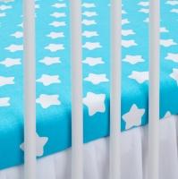Bavlněné prostěradlo - tyrkysové/bílé hvězdy