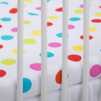 Bavlněné prostěradlo - barevné puntíky