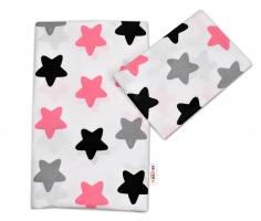 Bavlněné povlečení Baby Nellys ®- Barevné hvězdičky - růžové