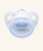 6-18m Dudlík NUK ROSE & BLUE - bílý/modrý