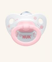 6-18m Dudlík NUK ROSE & BLUE - bílý/růžový
