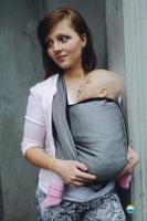 Little FROG Tkaný šátek na nošení dětí -  GRAPHITE HERRINGBONE
