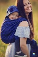 Little FROG Žakárový tkaný šátek na nošení dětí - COBALTIC CHARM