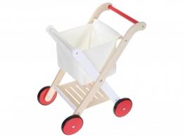 Dřevěný nákupní vozík ECO TOYS