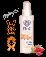 Prémiový tělový olej po koupeli Onclé s BIO šípkovým olejem, 200 ml