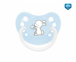 Dudlík anatomický Canpol Babies 0-6m A, Little Cutie - bledě modrý