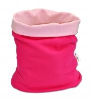Nákrčník/komínek Baby Nellys ® DUO - růžový/malinový