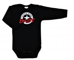 Body ROCK STAR BABY dlouhý rukáv - černé