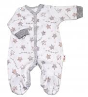 Overálek pro předčasně narozená miminka Baby Nellys ® - Hvězdičky šedé