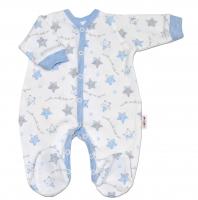 Overálek pro předčasně narozená miminka Baby Nellys ® - Hvězdičky modré